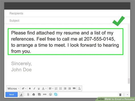 How To Send Resume Via Email by How To Email A Resume With Pictures Wikihow