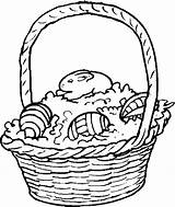Easter Basket Coloring Pages Baskets Holidays Printable Clipart Clipartbest Coloringpages101 Books sketch template