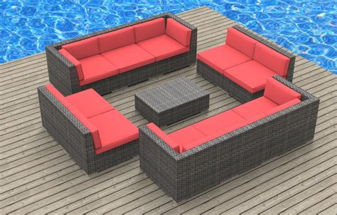 furnishing bermuda 11pc outdoor sectional sofa set