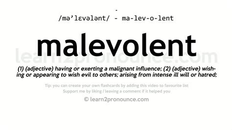 Malevolent Pronunciation And Definition