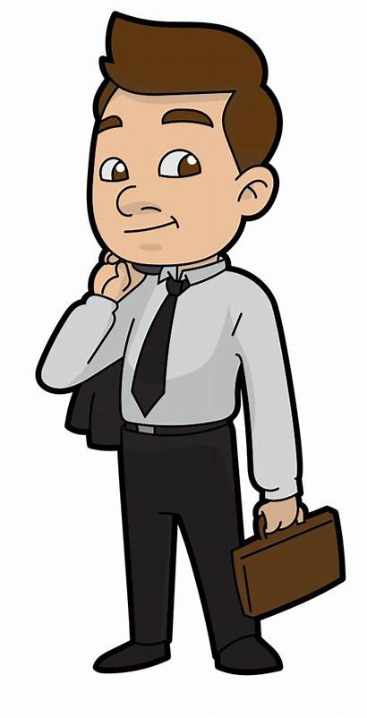 Cartoon Businessman Clipart Business Ready Drawing Person