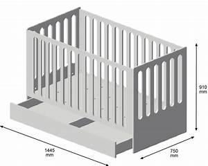 Dimension Lit Bébé Standard : lit bebe dimension ~ Teatrodelosmanantiales.com Idées de Décoration