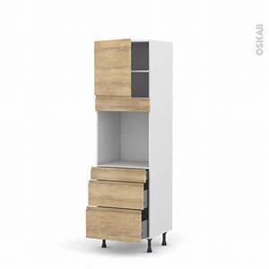 colonne de cuisine n1658 four encastrable niche 60 ipoma With four encastrable avec porte tiroir