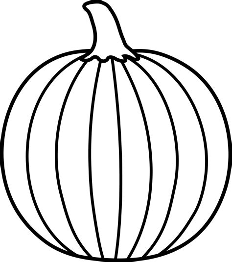 Pumpkin Clipart Black And White Black And White Pumpkin Lineart Free Clip