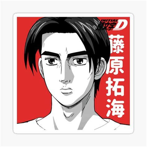 takumi fujiwara toyota trueno ae86 initial d stickers
