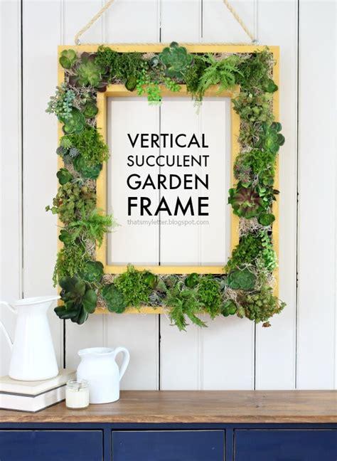 How To Build A Vertical Garden Frame by Vertical Succulent Garden Frame Jaime Costiglio