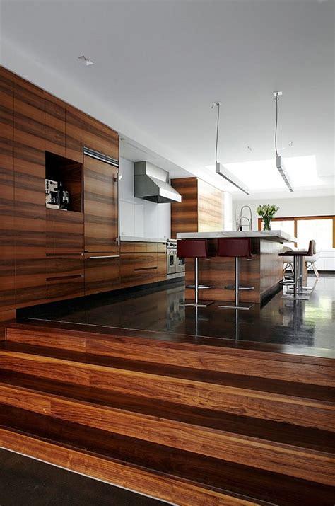 modern semi minimalist residence wrapped  natural wood  stone