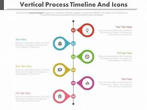 Six Staged Vertical Process Timeline And Icons Powerpoint