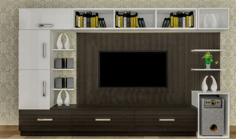 cool contemporary tv wall unit designs   living room