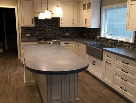 kitchen island countertop verdicrete concrete countertops custom