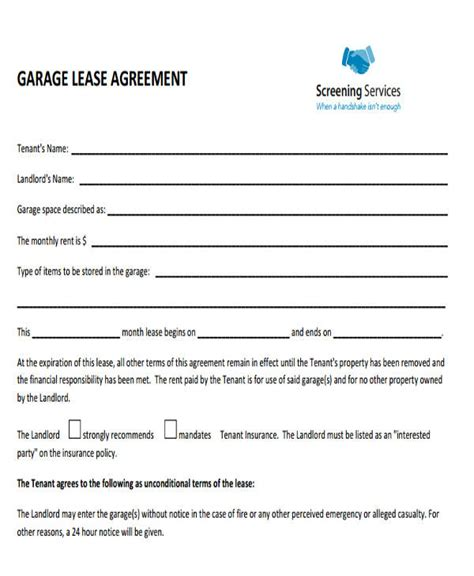 commercial lease agreement samples word  pages