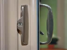 sliding glass door with lock exterior