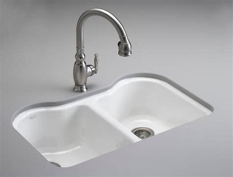 kitchen sink kohler kohler k 5818 5u 0 hartland equal undercounter sink 2759