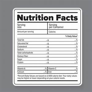 nutrition facts vector label objects on creative market With blank nutrition facts label template