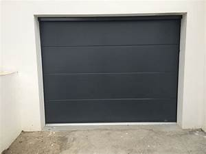 20170419010105 porte de garage sectionnelle anthracite With porte de garage sectionnelle grise