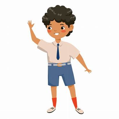 Waving Boy Character Transparent Cartoon Svg Menino