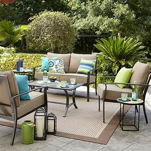 Garden Oasis Harrison 4 Piece Cushion Seating Set