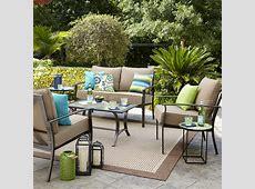 Garden Oasis Harrison 4 pc GlassTop Outdoor Seating Set