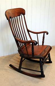 Victorian, Fruitwood, Rocking, Chair