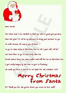 letter from santa template cyberuse With a letter from santa free