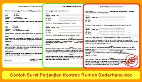 contoh surat perjanjian kontrak kerja karyawan