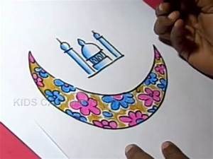 How to Draw Bakrid Festival Greeting Drawing for Kids Step ...