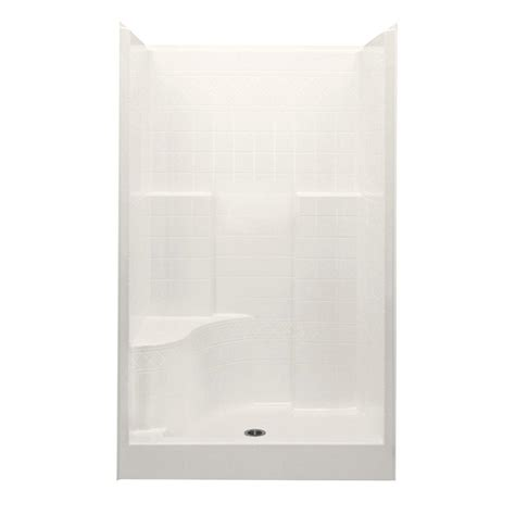 36 Shower Stall - aquatic everyday diagonal tile 48 in x 36 in x 76 in 1