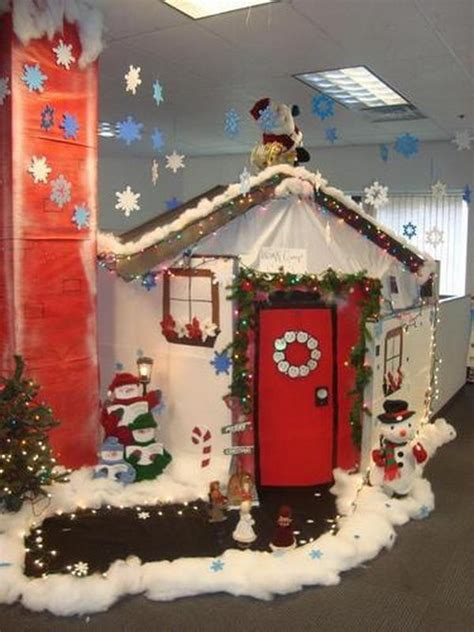 christmas decorating ideas cubicle work myideasbedroom com