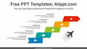 Flag Stair Arrow Powerpoint Diagram Template