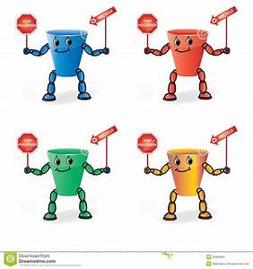 Vector Color Recycle Bin Figure Royalty Free Stock ...