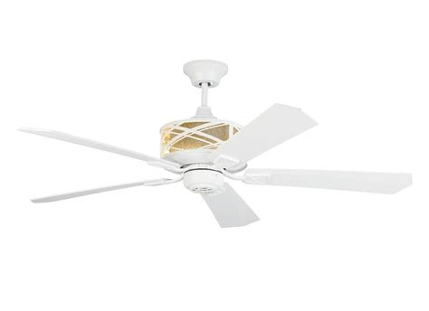 rubberized white piper 5 blade 54 quot indoor ceiling fan with