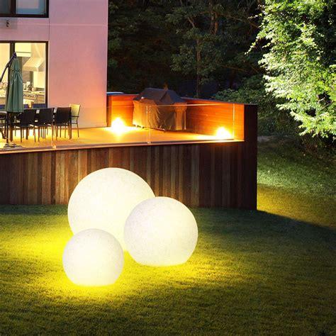 Garten Deko Leuchten by Design Leuchte Kugel Steck Le Garten Deko Beleuchtung