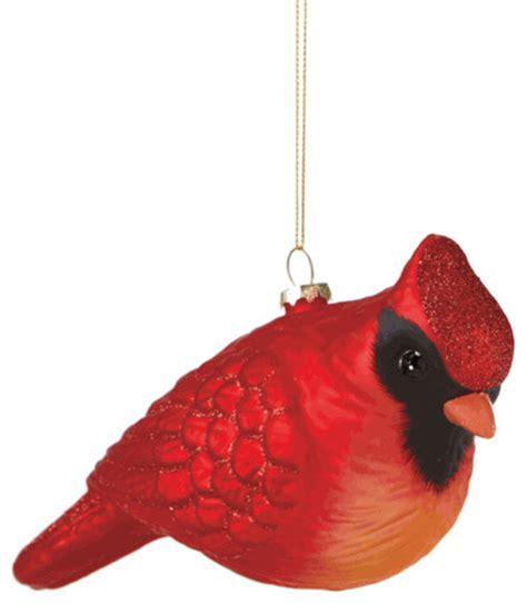oversized cardinal christmas tree ornament glass large