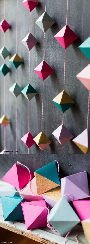 Diy Lenschirm Papier by Best 25 Paper Garlands Ideas On Hanging Paper