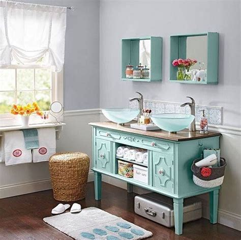 clever pedestal sink storage design ideas diy