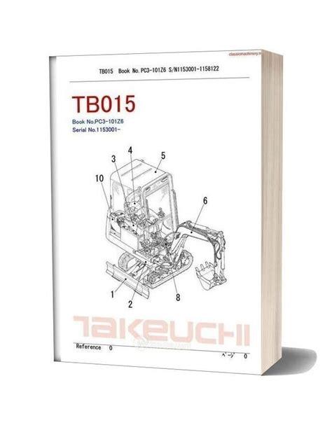 takeuchi tb parts manual