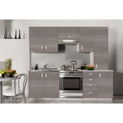 cuisine complete cuisine complète en bois gris 220 cm oxane