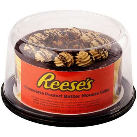reeses chocolate peanut butter mousse cake  oz