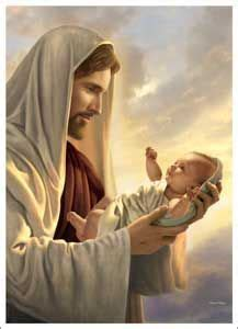 jesus holding  child clipart    cliparts