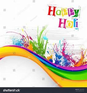 Vector Illustration Holi Festival Background Design Stock ...