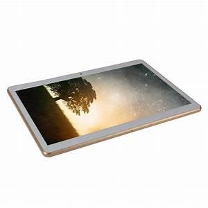 Tablette Tactile Avec Carte Sim : tablette 4g 10 pouces android 6 0 dual sim quad core gps 32go blanc ~ Melissatoandfro.com Idées de Décoration