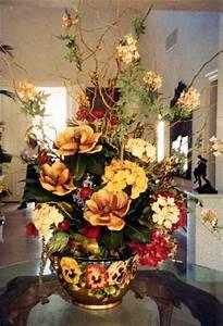 Mediterranean style silk floral arrangements