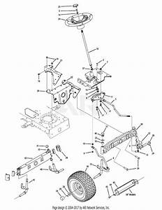 Troy Bilt 13ax60kh211 Super Bronco  2008  Parts Diagram For Steering  U0026 Front Axle