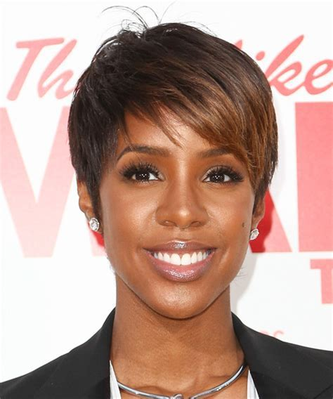 Kelly Rowland Short Straight Formal Hairstyle with Side