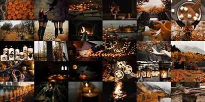 Collage Desktop Wallpapers Autumn Aesthetic Fall Halloween