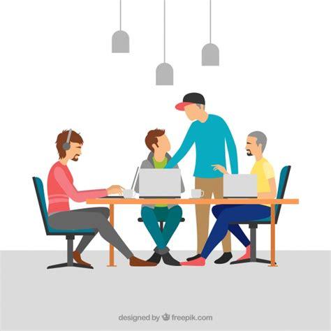 bureau equipe travail d 39 équipe dans un bureau moderne télécharger des