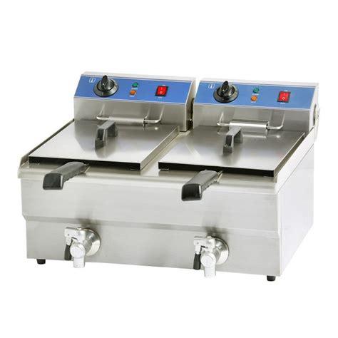 mandoline de cuisine professionnelle friteuse professionnelle électrique 2 bacs 16 litres