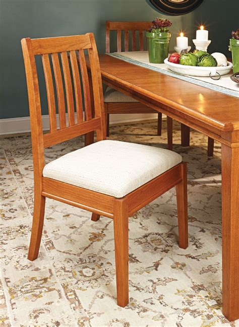 stylish dining chair woodworking project woodsmith plans