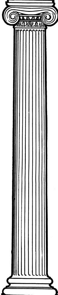 ionic column clipart