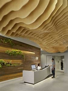 Wooden ceilings with wavy and sophisticated designs for Wood ceiling ideas